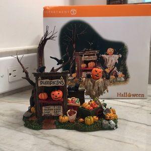 Halloween pumpkin stand